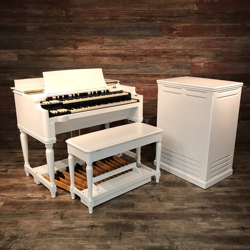Hammond Vintage (1959) B-3 Custom Organ and Leslie Type 122 Rotary Speaker - Semi Gloss White