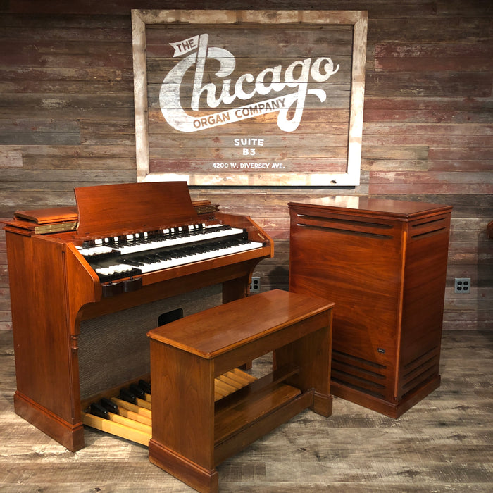 Hammond (1964) A-105 Organ with Leslie 771 Rotary Speaker View 3