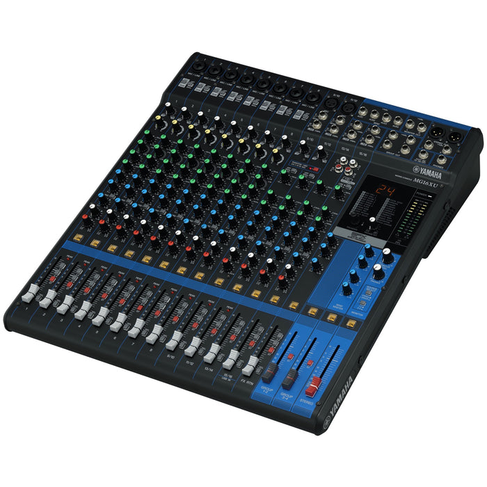Yamaha MG16XU 16-Channel Analog Mixer Side