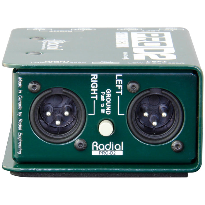 Radial ProD2 Stereo Direct Box View 5
