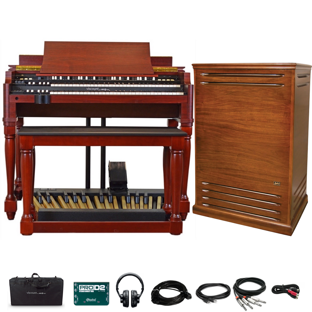 Viscount Legend Classic Organ Bundle with - with Classic Stage Pack and Leslie 3300W