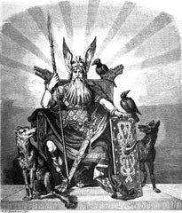 Odin and gungnir