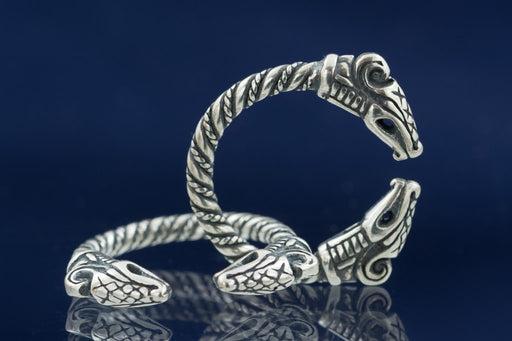 Silver Norse Dragon Ring-VikingStyle