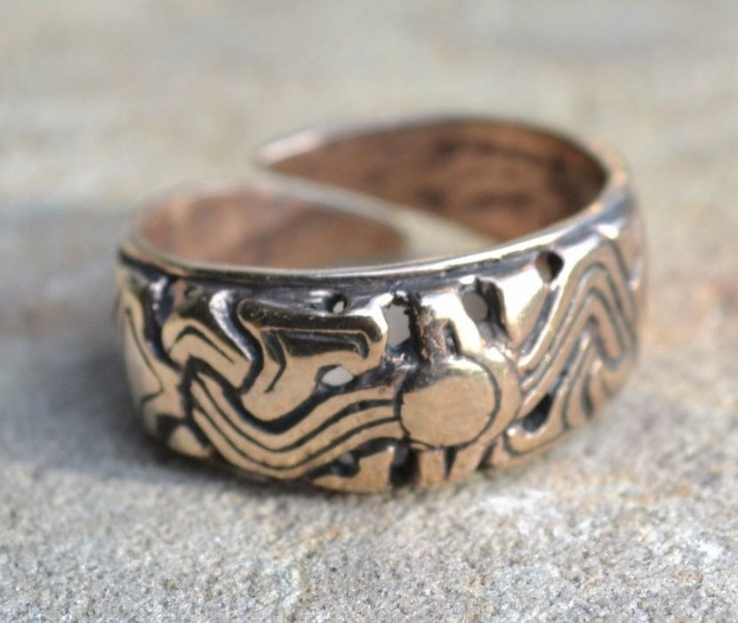 Bronze Viking Ring Replica-VikingStyle