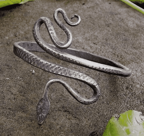 Hand Forged Serpent Bracelet