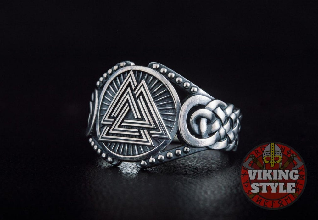 Valknut Ring - Endless Knot, 925 Silver