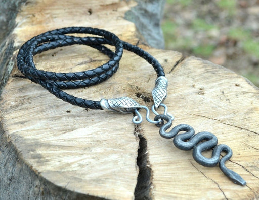 Hand Forged Serpent Pendant-VikingStyle