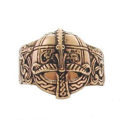 Bronze Viking Helmet Ring