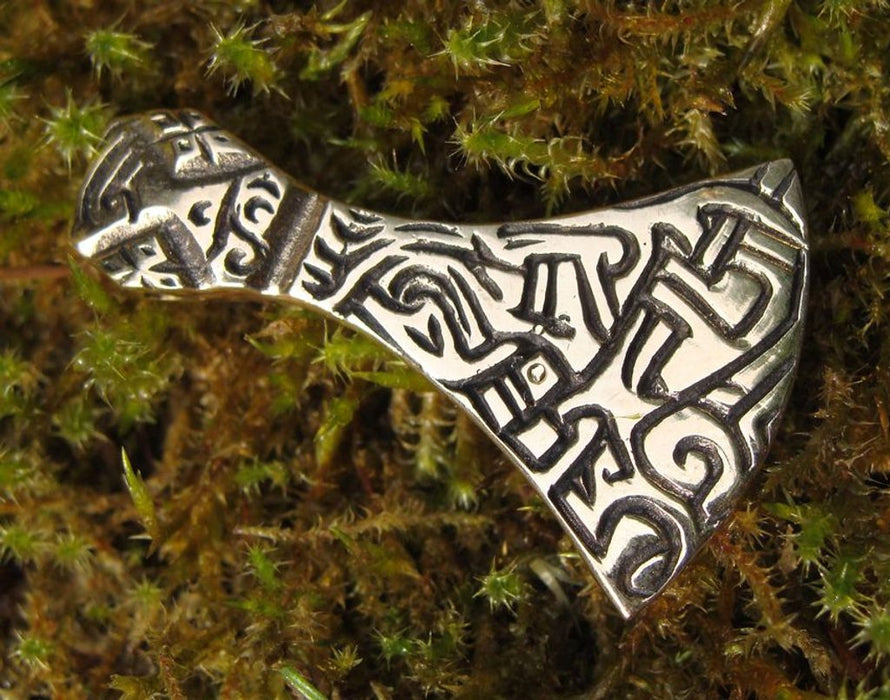 Bronze Viking Axe Pendant-VikingStyle