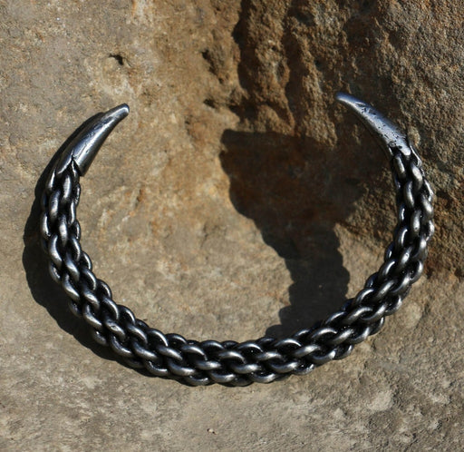 Hand Forged Iron Bracelet-VikingStyle