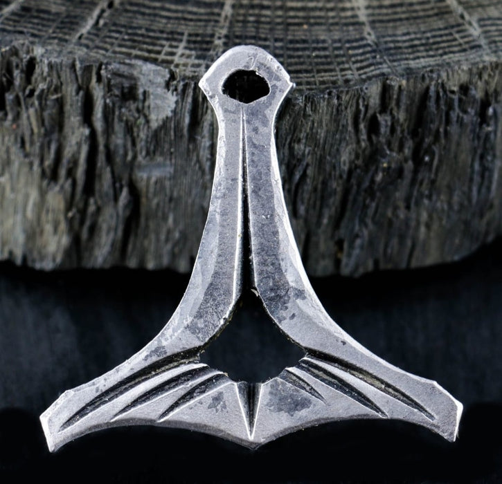 Hand Forged Thors Hammer Pendant-VikingStyle