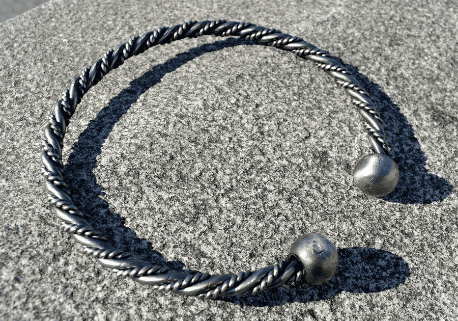 Hand Forged Twisted Neck Torc-VikingStyle