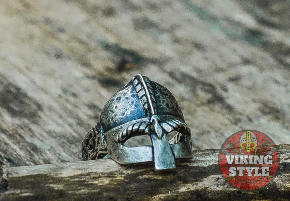 Viking Helmet Ring - 925 Silver