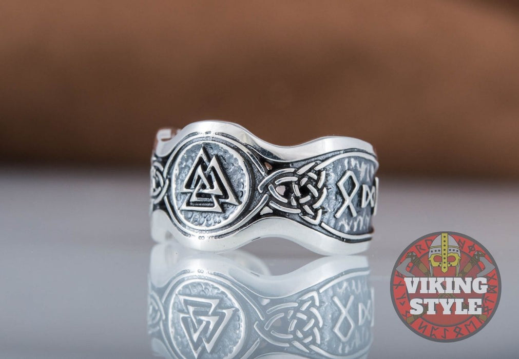 Valknut Ring II - Odin Collection, 925 Silver