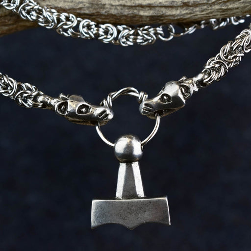 Solid Mjolnir with King's Chain