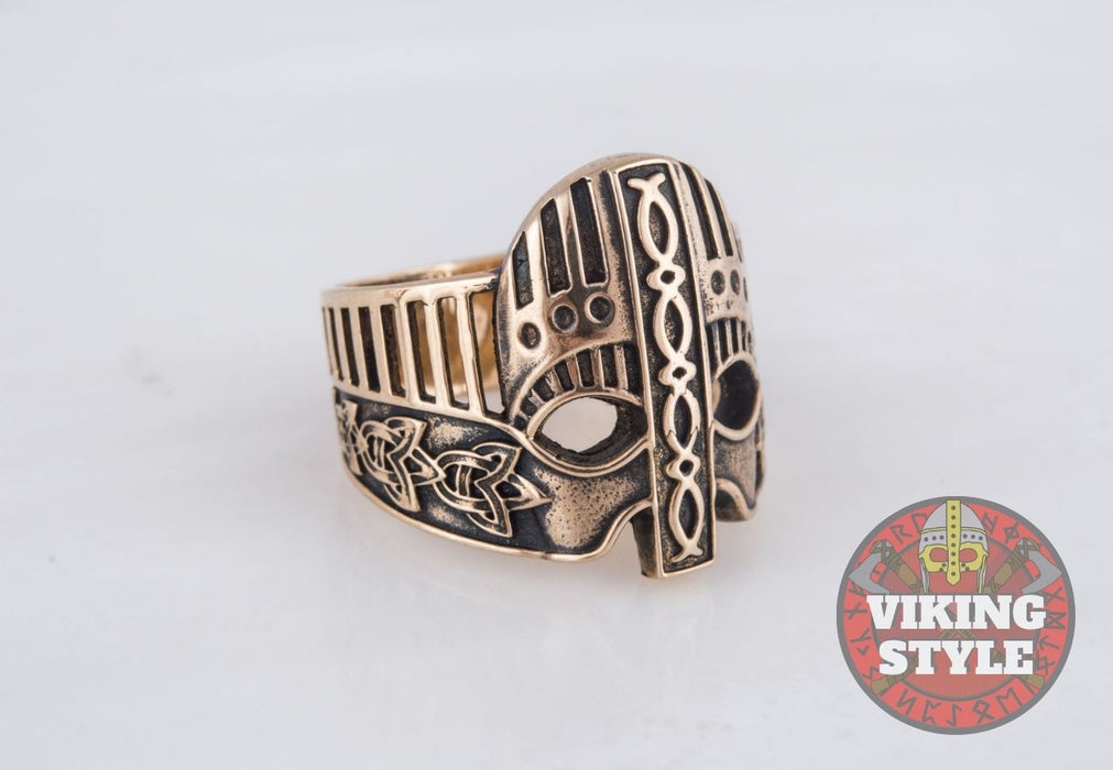 Viking Helmet Ring IV - Bronze