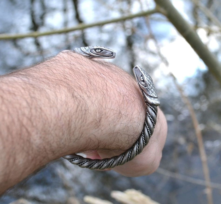 Traditional Viking Arm Ring - Serpent-VikingStyle