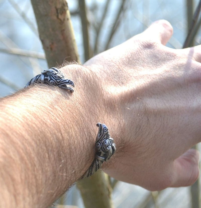 Traditional Viking Arm Ring - Norse Dragon-VikingStyle
