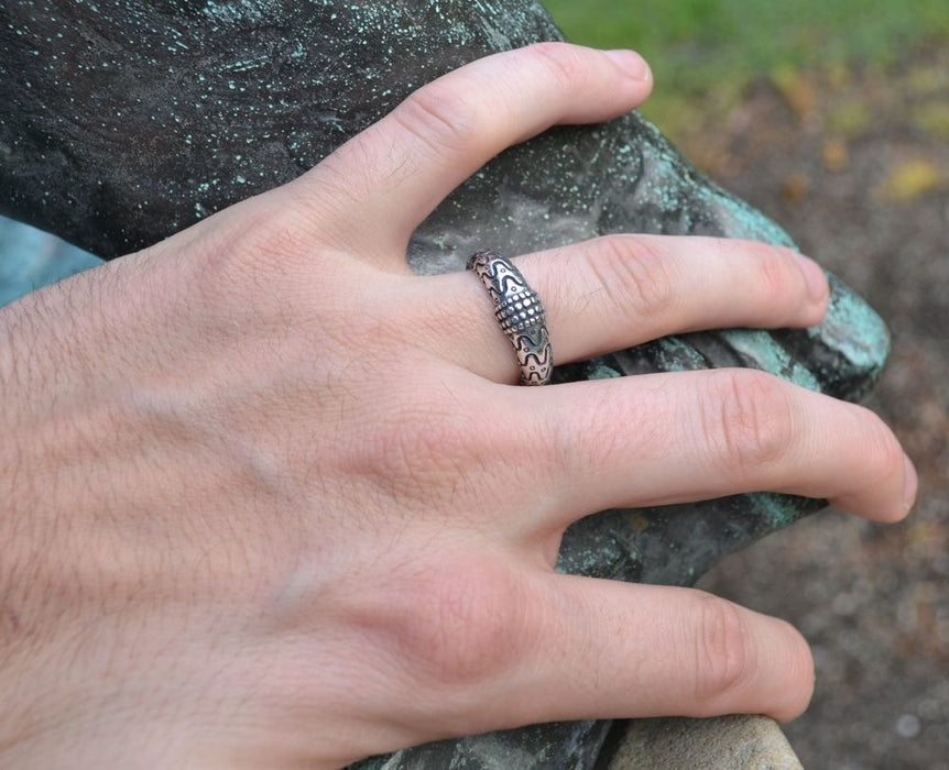 Silver Viking Orupgard Ring-VikingStyle