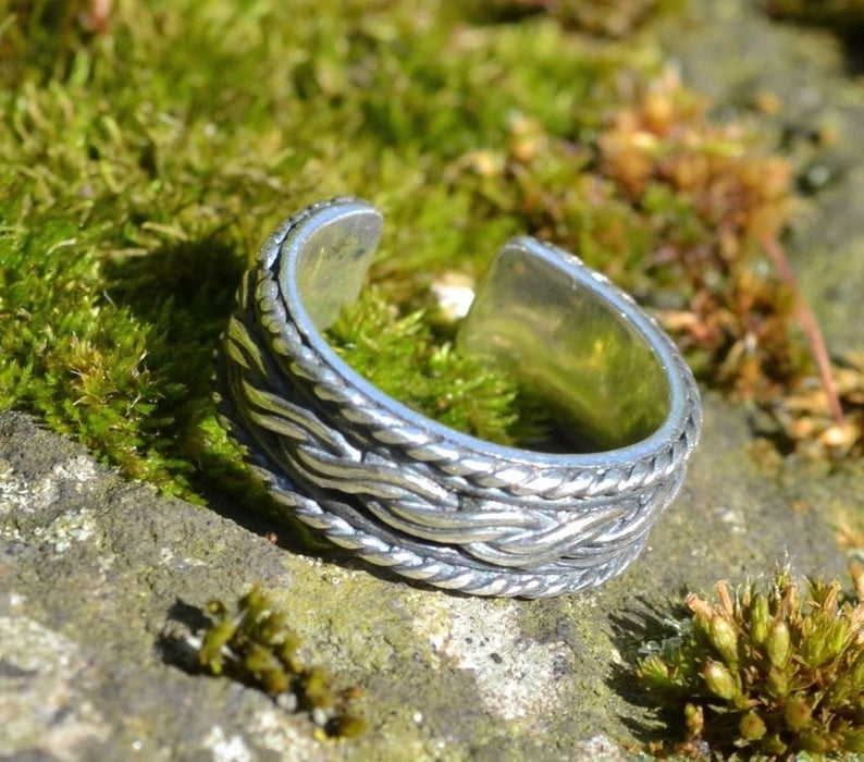 Silver Viking Knotted Ring-VikingStyle