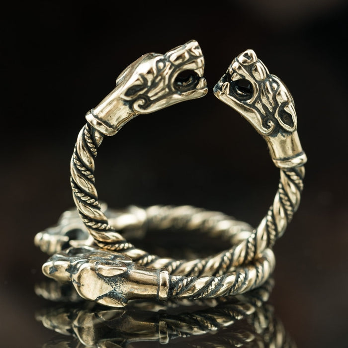Bronze Fenrir Ring-VikingStyle
