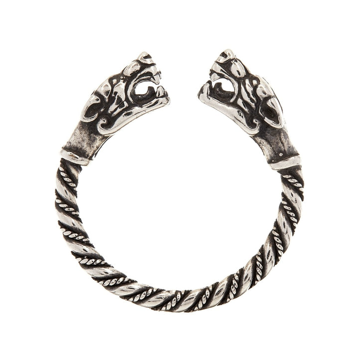 Silver Viking Fenrir Ring-VikingStyle