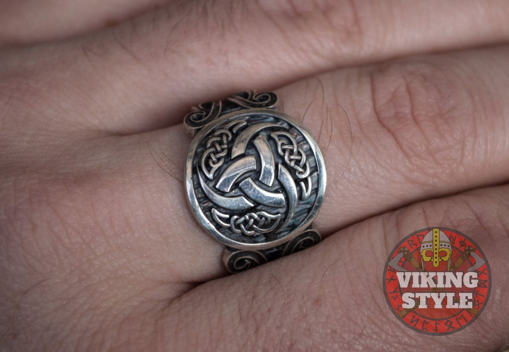 Tri-Horn Ring - Norse Collection, 925 Silver