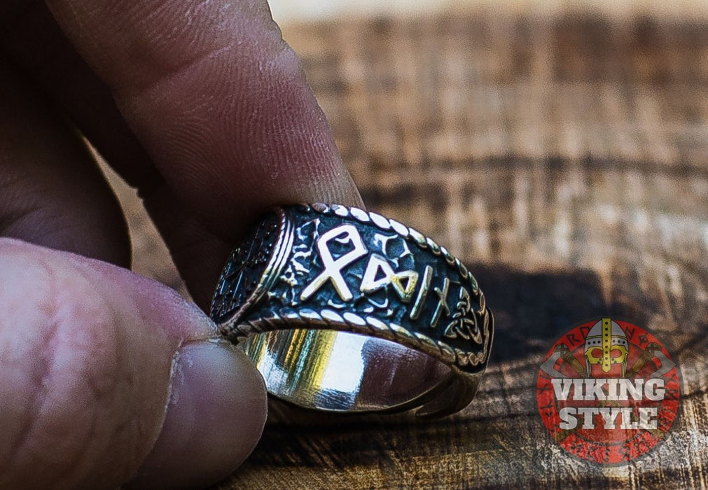 Vegvísir Ring - Odin Collection, 925 Silver