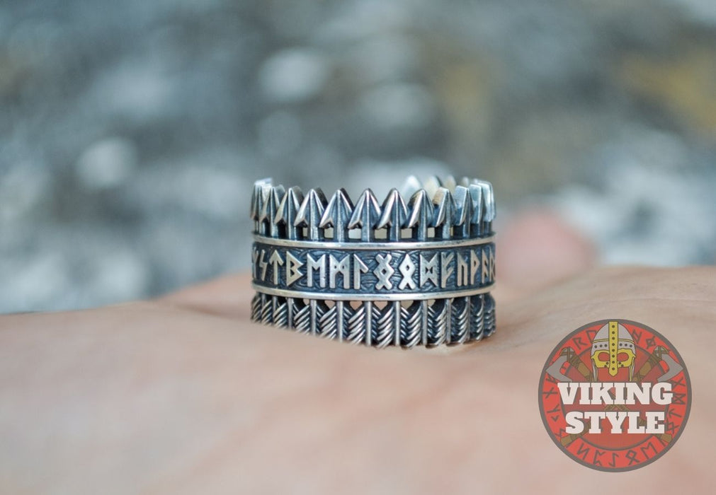 Runic Ring - Arrow, 925 Silver