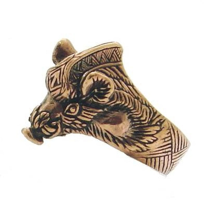 Bronze Viking Boar Ring-VikingStyle
