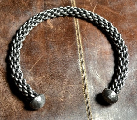 Hand Forged Braided Steel Neck Torc