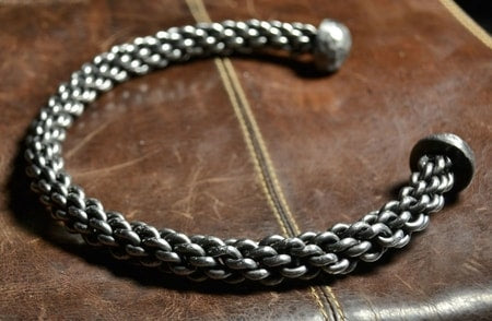 Hand Forged Braided Steel Neck Torc-VikingStyle