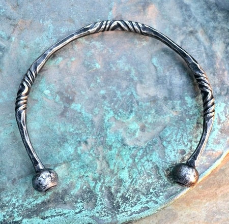 Hand Forged Viking Neck Torc-VikingStyle
