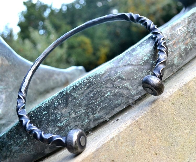 Hand Forged Adjustable Neck Torc-VikingStyle