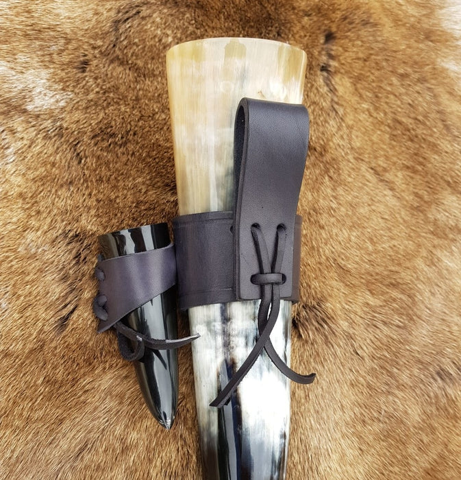 Drinking Horn & Shot Horn Set