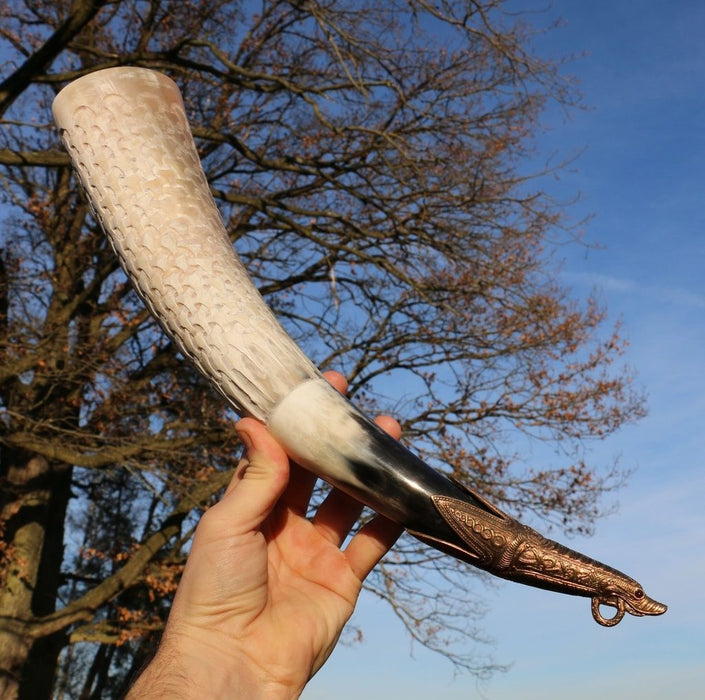 Premium Borre Hand Crafted Drinking Horn