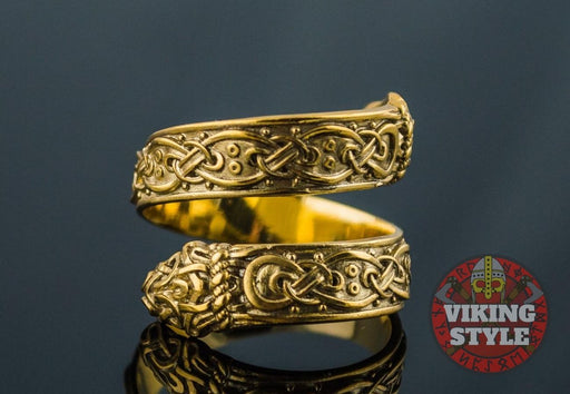 Traditional Norse Ring - Gold