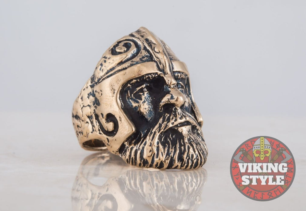 Viking Helmet Ring - Dwarf, Bronze