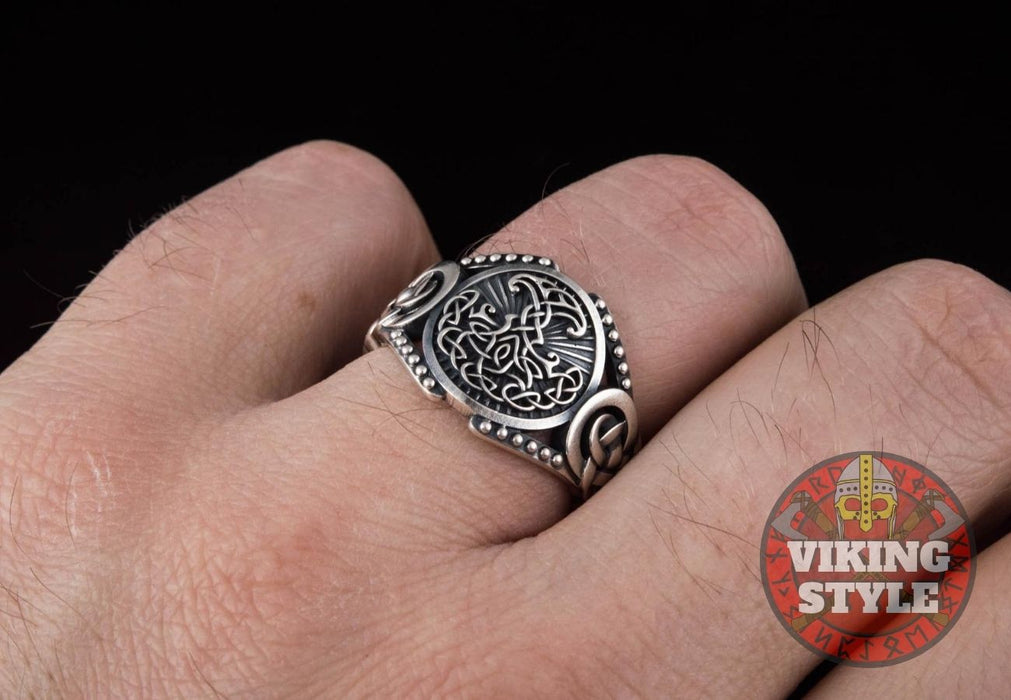 Yggdrasil Ring - Endless Knot, 925 Silver