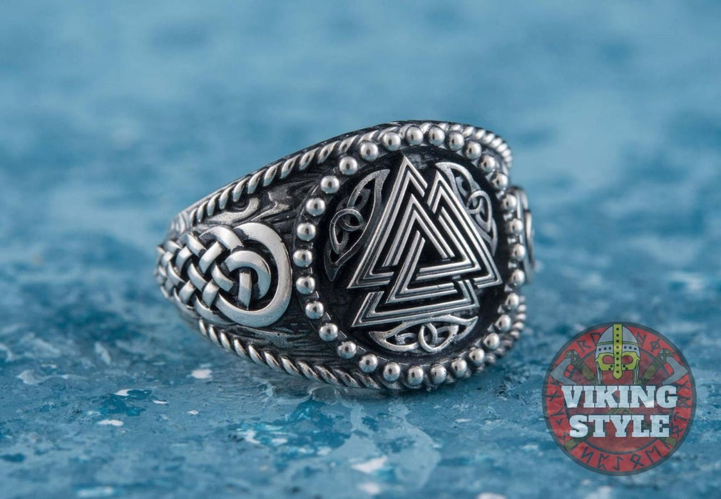 Valknut Ring II - Endless Knot, 925 Silver