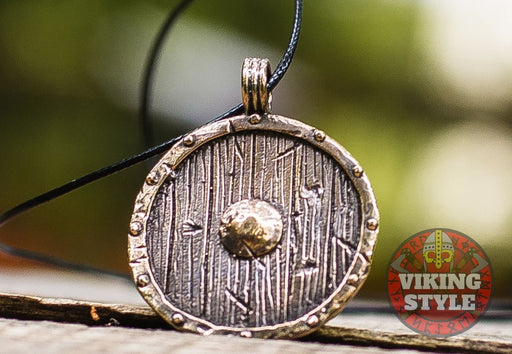 Viking Shield Pendant - Bronze