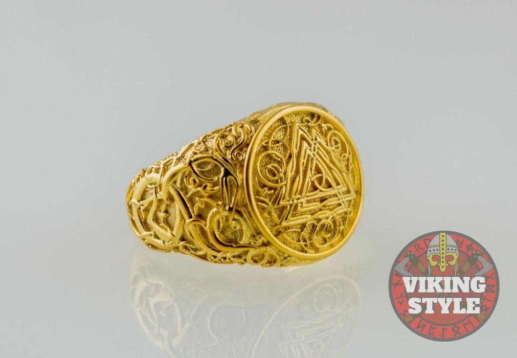 Valknut Ring - Urnes, Gold