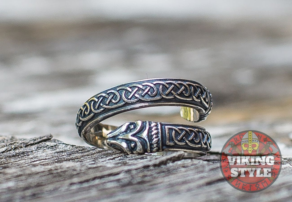 Adjustable Ring - Endless Knot, 925 Silver