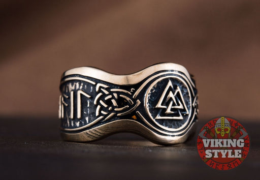 Valknut Ring II - Odin Collection, Bronze