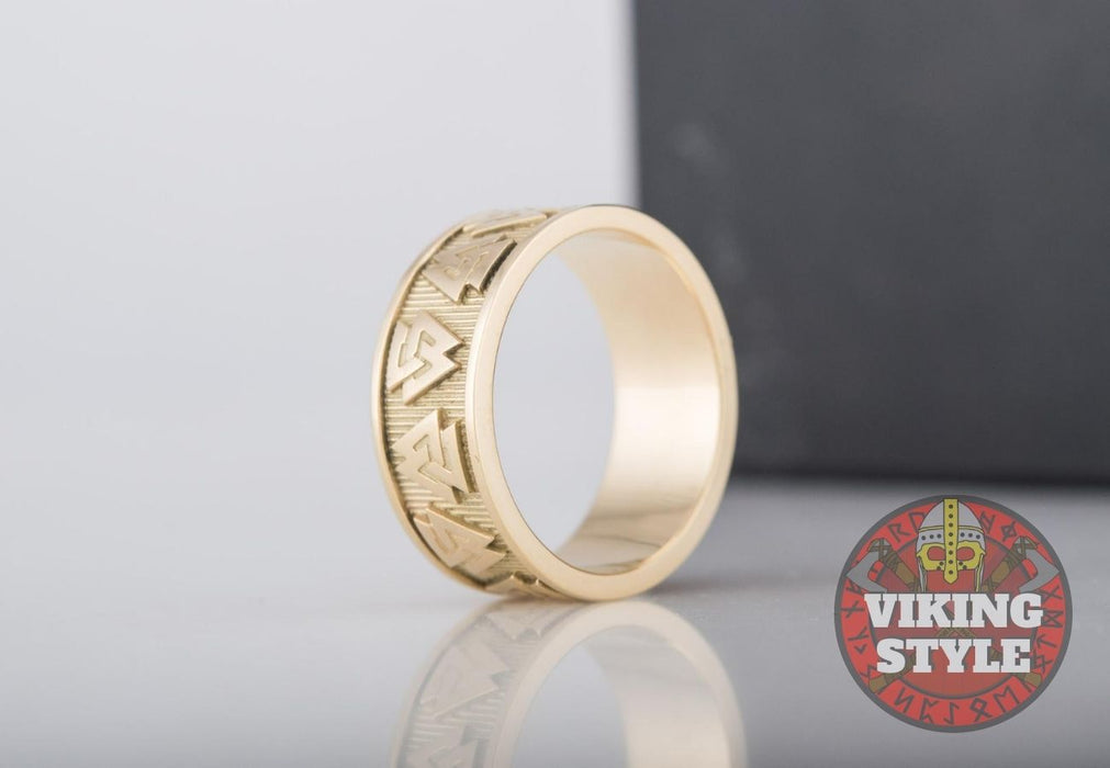 Valknut Ring - Gold