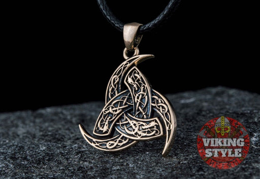 Tri-Horn Necklace - Bronze