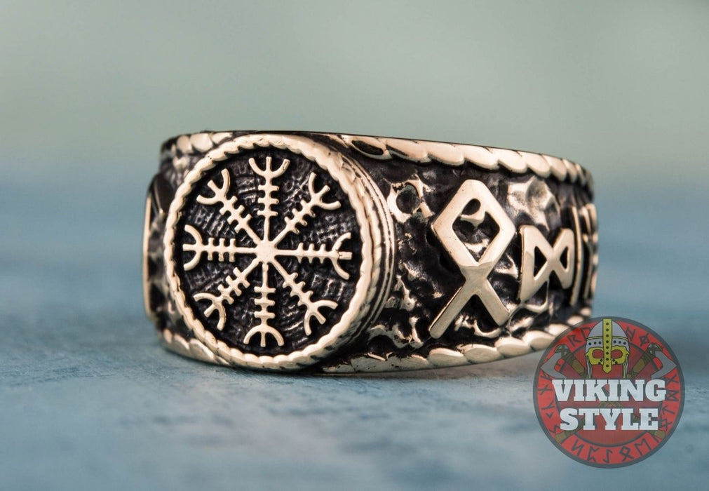 Ægishjálmur Ring - Odin Collection, Bronze