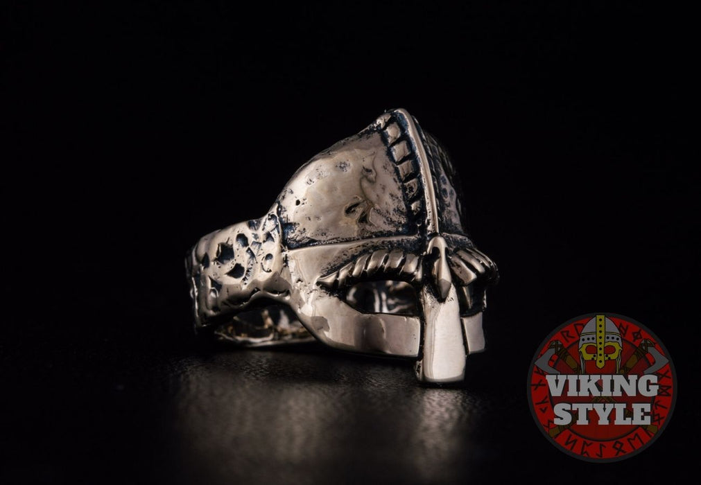 Viking Helmet Ring - Bronze