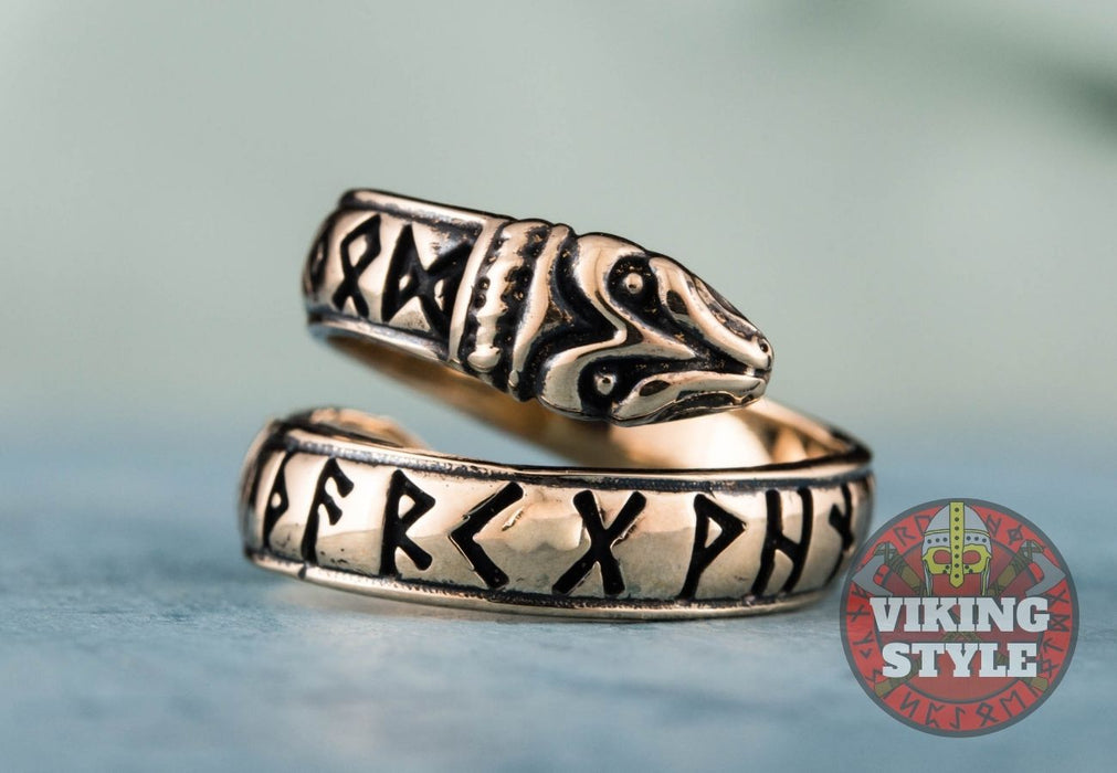 Adjustable Rune Ring - Bronze