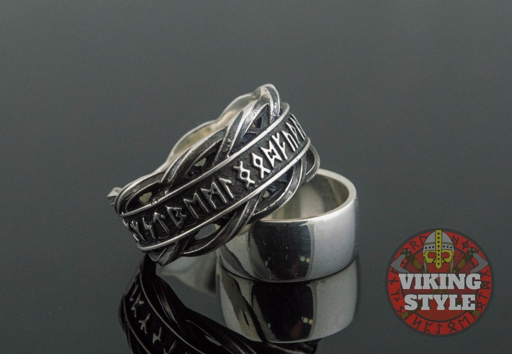 Runic Ring - Knot, 925 Silver